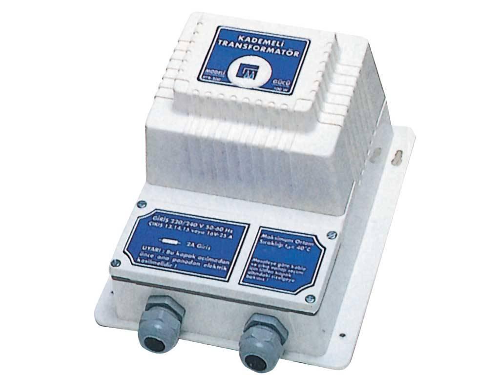300 W / 230 - 13-14-15-16 V Kademeli Çıkışlı. (Trafo üzerinden yüksüz)