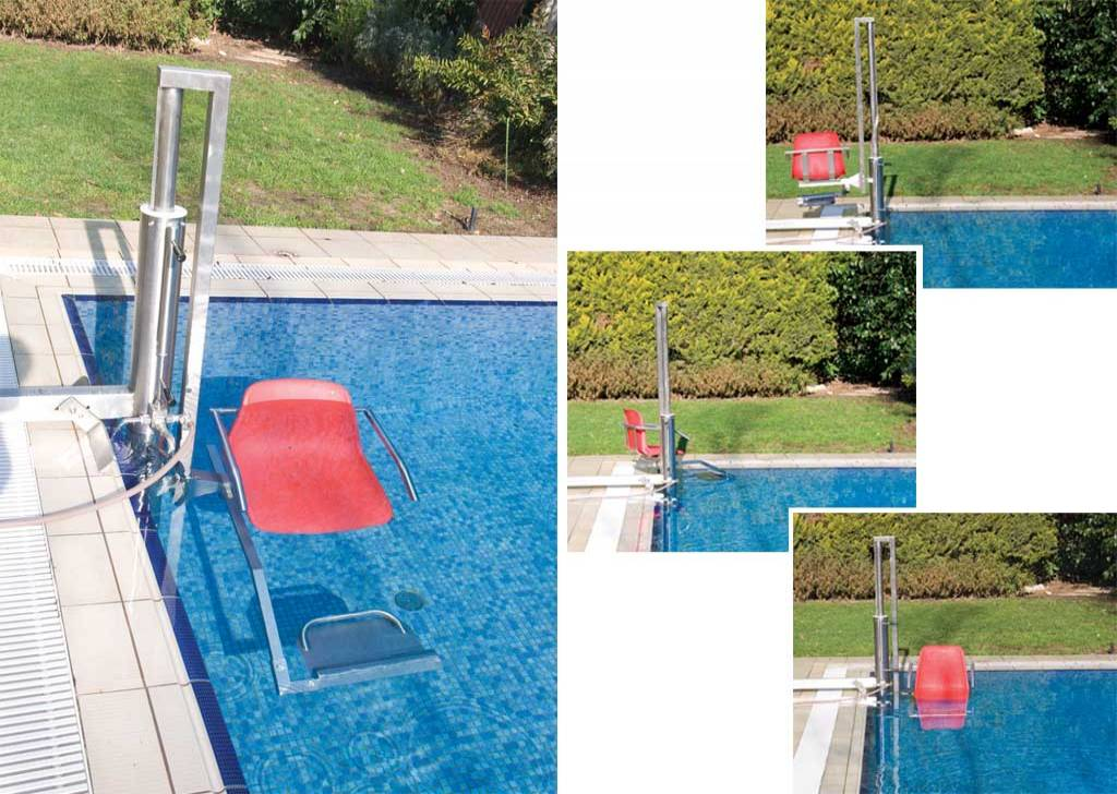 Pool lift for disabilities