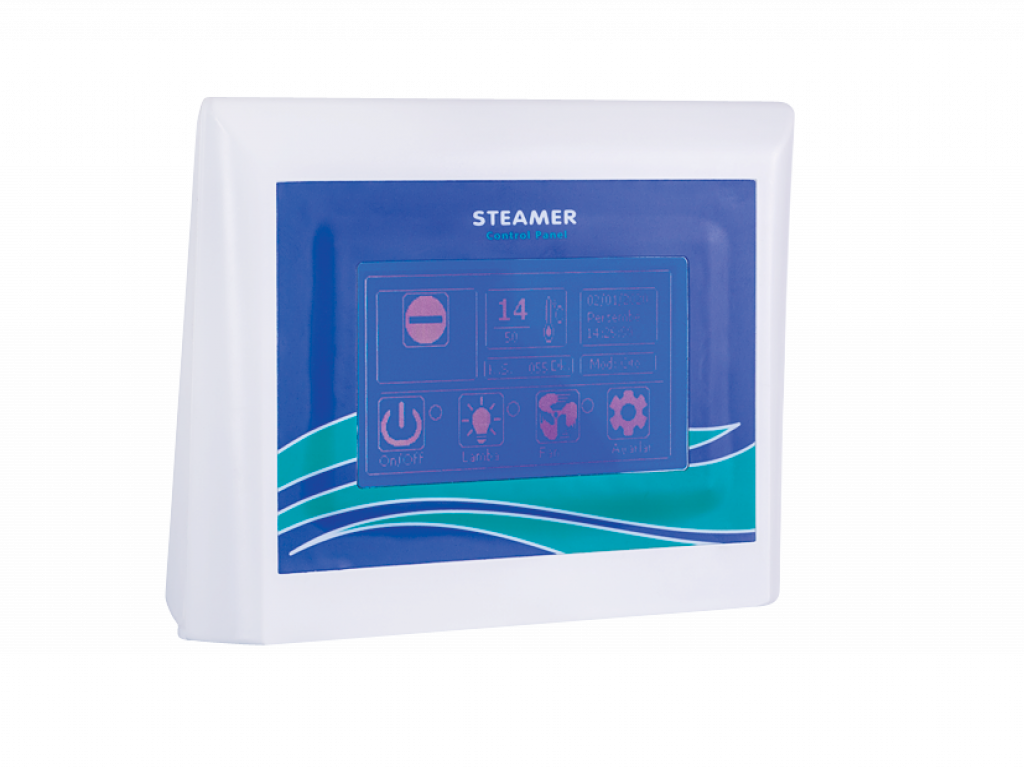 CONTROL PANEL FOR STEAMER STEAM GENERATORS WITH ELECTRODE