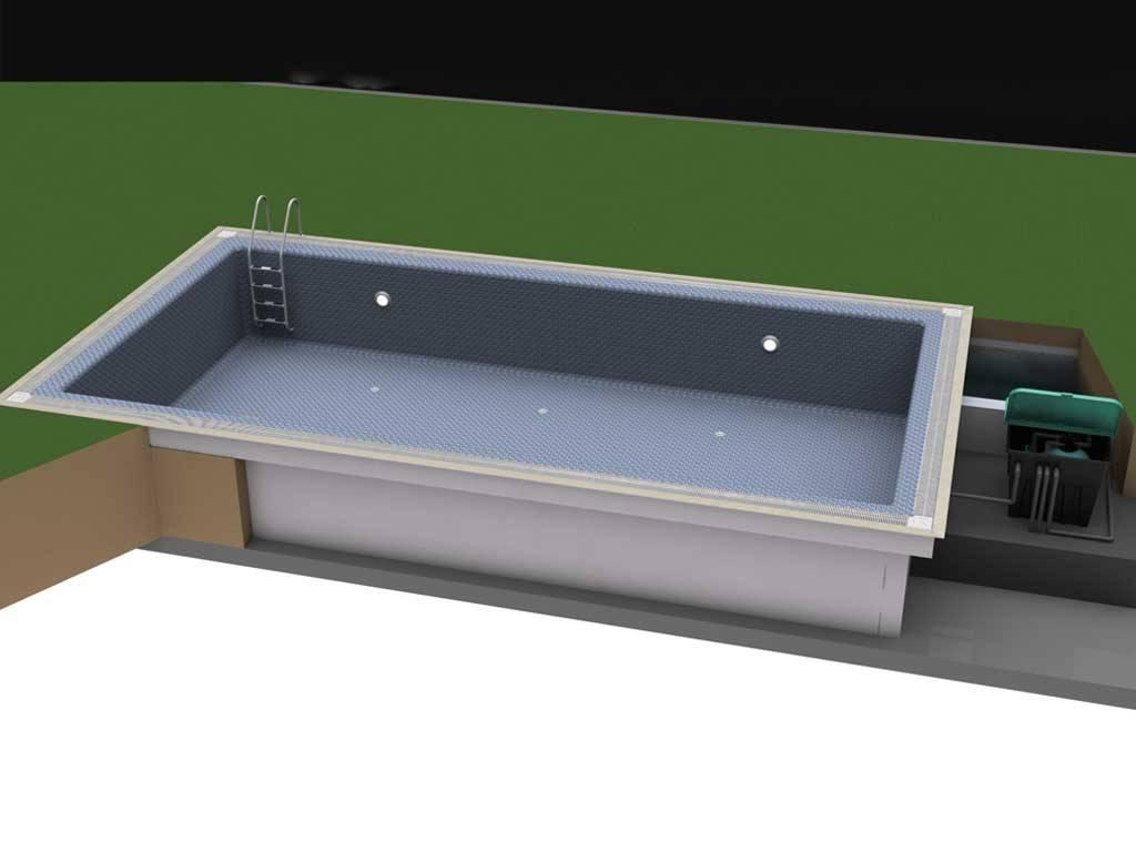 Stropool RECTON-TK Hızlı Havuz Sistemi