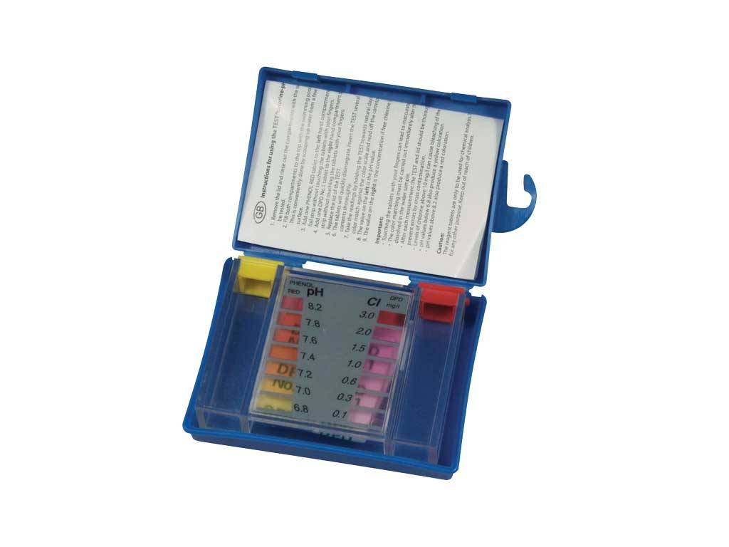 TEST KIT WITH TABLETS.